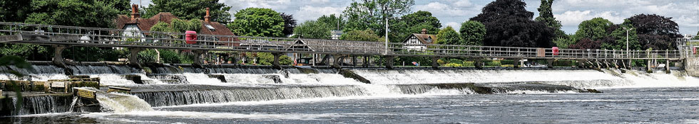 Water over weir